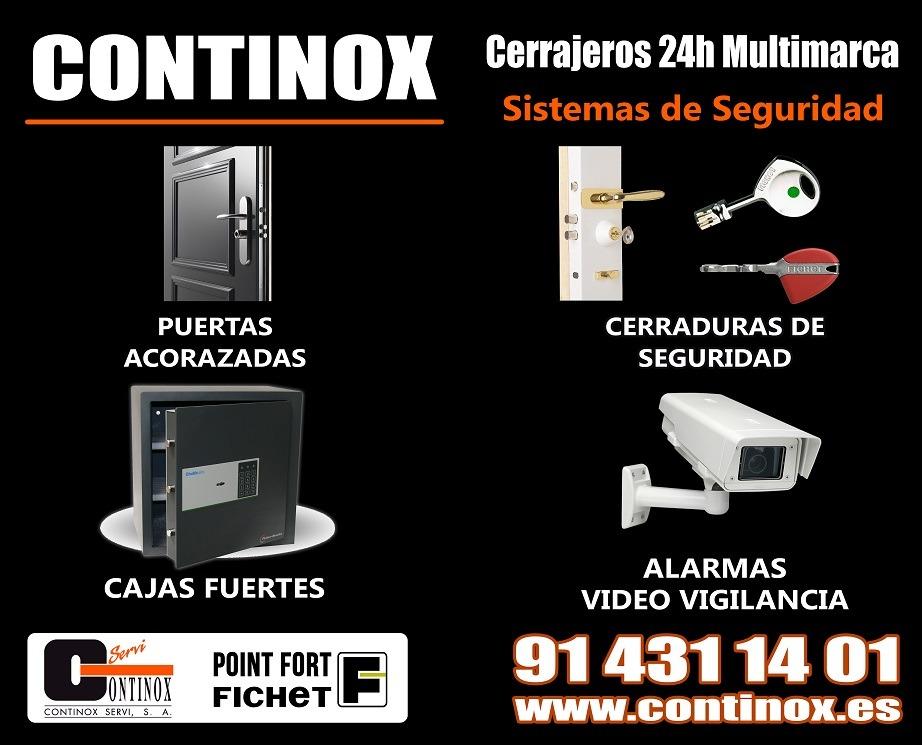 Servicios de sistemas de seguridad Continox Fichet Madrid