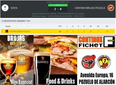 Continox Brujas Pozuelo sigue imparable en la Liga de Fútbol 7 de Madrid