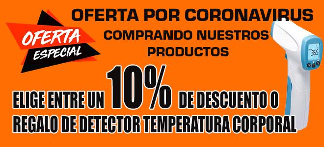 Oferta 10% de Descuento o Regalo detector temperatura corporal