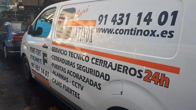 Furgoneta servicio técnico Fichet Madrid Continox
