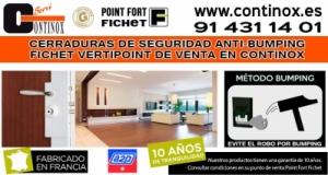 Cerraduras de Seguridad Anti-Bumping Fichet Vertipoint de venta en Continox Fichet Madrid