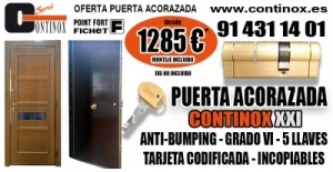 Oferta Puerta Acorazada Continox XXI por 1285 Euros