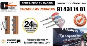 Servicio Técnico Fichet 24h en Madrid. Reparación de Puertas, Cerraduras, Cajas Fuertes…