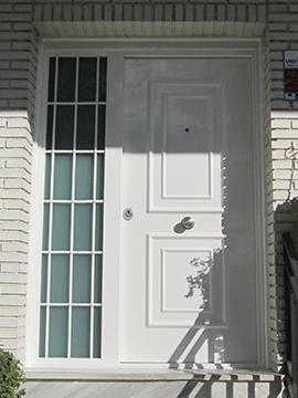 Puertas con fijo lateral y reja