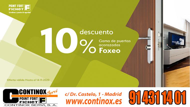 OFERTA 10% EN PUERTAS ACORAZADAS FICHET FOXEO