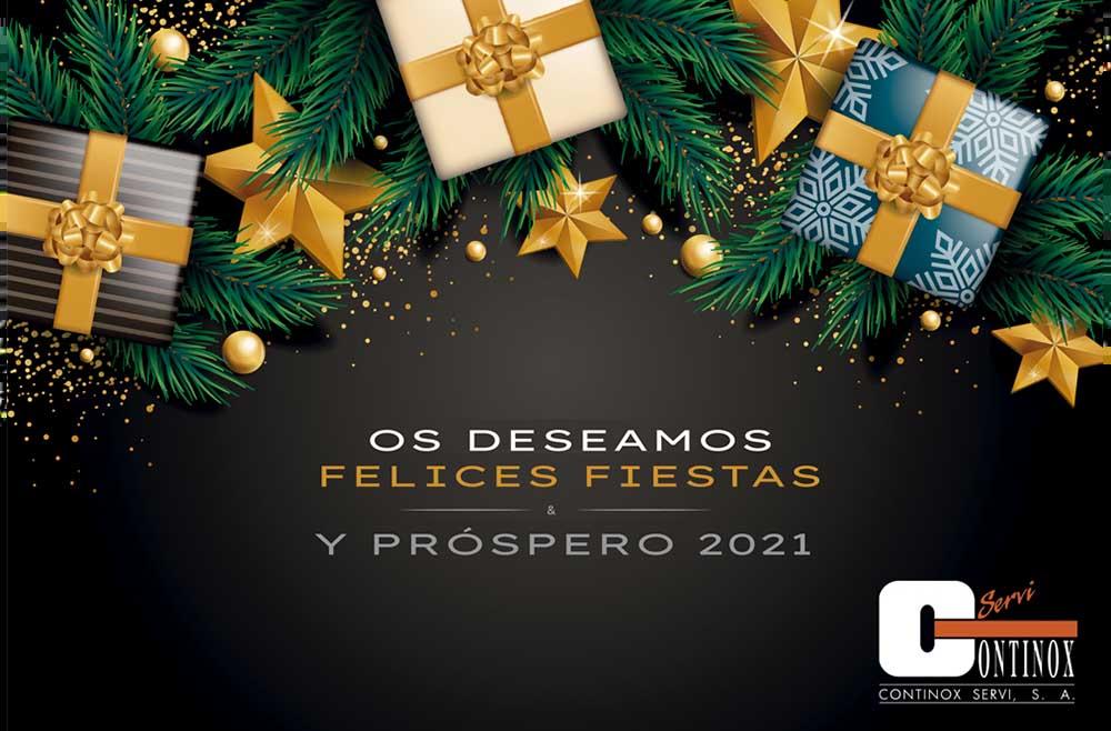 Continox les desea Felices Fiestas