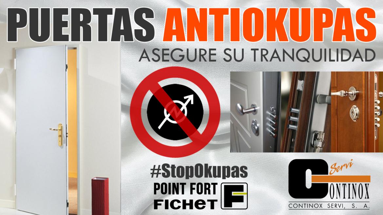 Puertas Antiokupas Continox Fichet Madrid